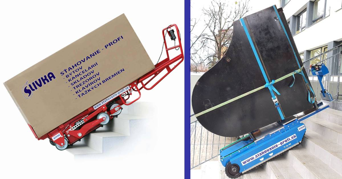 sťahovanie ťažkých bremien vozíkom
